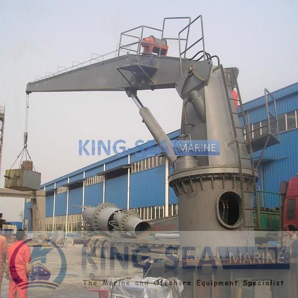 Yacht Hydraulic Crane : Hydraulic crane slewing marine